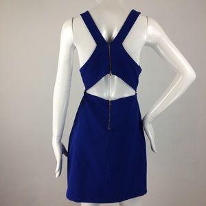 Zara Royal Blue Cut-out Dress - Large